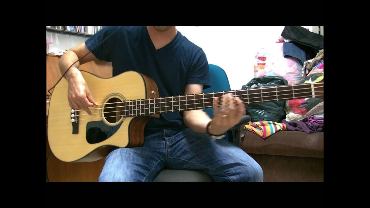 fender cb 100ce acoustic electric bass demo youtube. Black Bedroom Furniture Sets. Home Design Ideas
