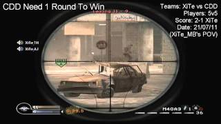 COD4 ConsoleMod Highlights :: XiTe Gaming vs CDD:: Final Score 2-1