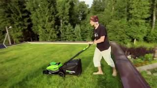 Аккумуляторная газонокосилка GreenWorks G-MAX 40V DigiPro 45 см