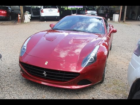 Unica Ferrari California T Euro Spec Na Cor Rosso Mugello Do Brasil