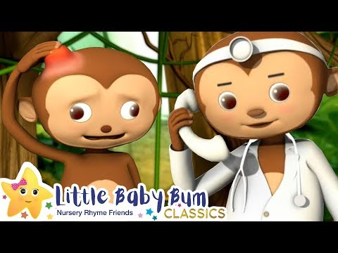 Five Little Monkeys + More Nursery Rhymes & Kids Songs - Little Baby Bum