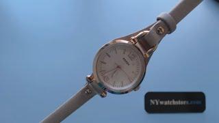 Women's Fossil Georgia Mini Leather Watch ES3262
