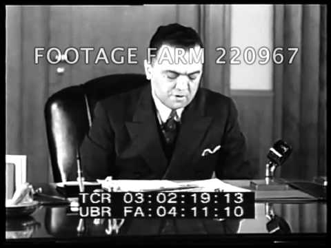 J. Edgar Hoover on FBI, Law Enforcement, Kidnapping 220967-01 | Footage Farm
