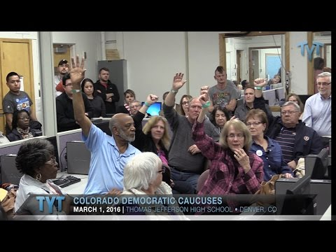 Sanders, Clinton Supporters Duke It Out At Colorado Caucus--Sparks Fly