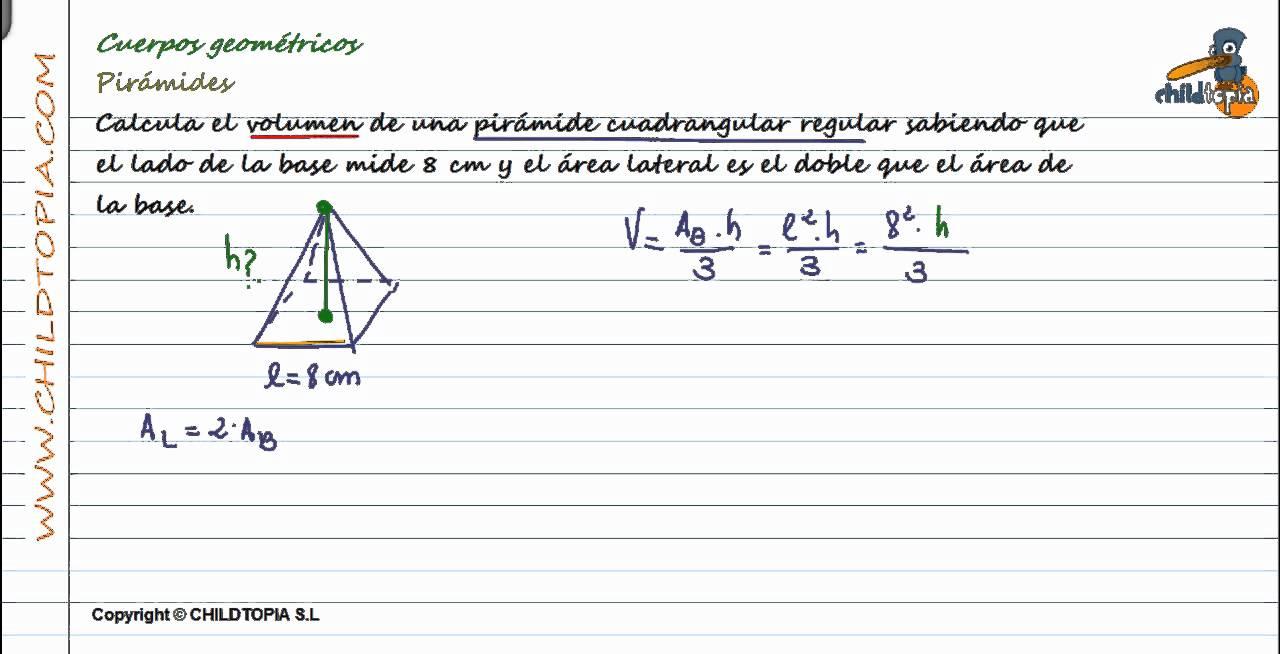 Cuerpos Geométricos: Pirámides. 3º de ESO matemáticas