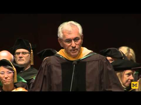 Dr  Nortin Hadler gives commencement address at U  of Michigan Medical School
