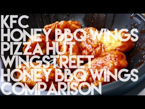 KFC Honey BBQ Wings Pizza Hut Wingstreet Wings Comparison thumbnail