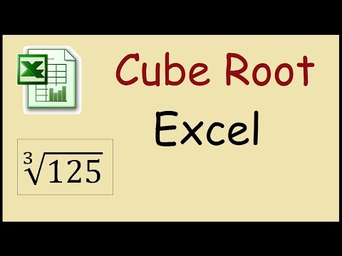 How To Calculate Cube Root In Excel