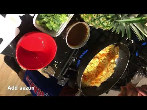 COOKING W/ JAYCEON - pineapple fried rice