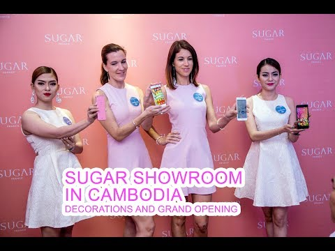 Sugar France Showroom Decorations and Grand Opening Management in Cambodia