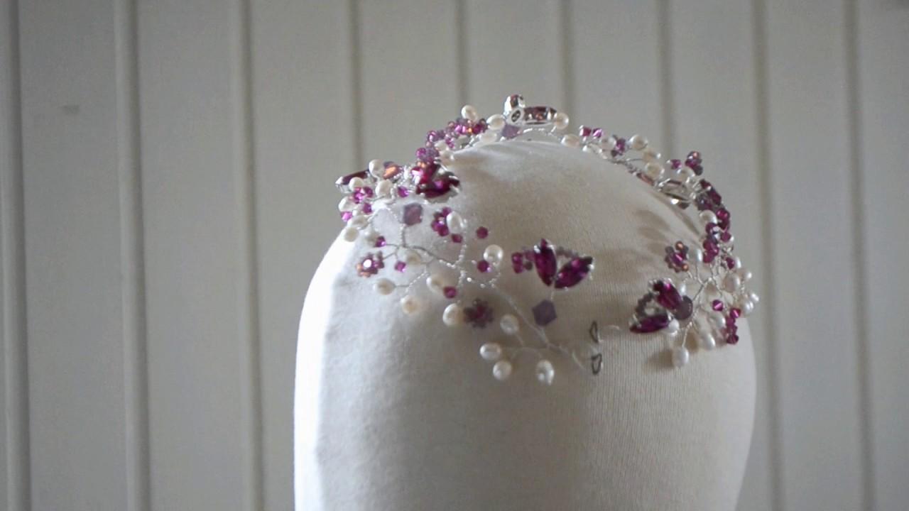 Souvent Couronne de mariée de créateur , Swarovski et perles d'eau douce  KK37
