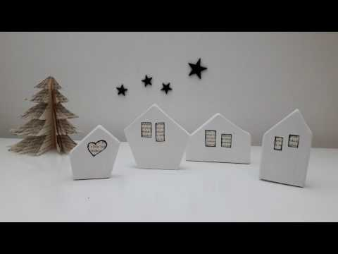 wooden houses - Christmas home decor