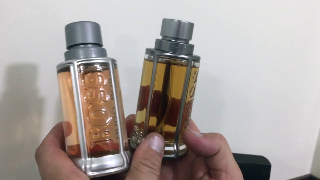 487d6aea9f8 Review fake vs original Hugo Boss The Scent - YouTube