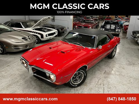 1968 Pontiac Firebird $38,000