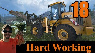 Farming Simulator 2015 Hard Working E18:  corn harvesting