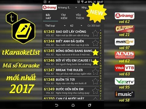 Mã số Karaoke Arirang vol 62 🎤 tKaraokeList
