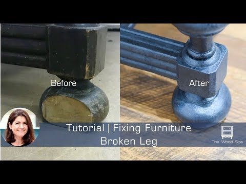 Fixing Furniture Leg with Wood Filler and Molding - Speedy Tutorial #26