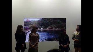 がまかつブースの釣りガール4人の豪華なトークショーです!(島田 細香...