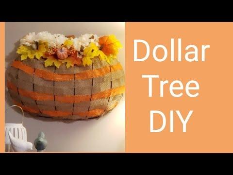 Dollar Tree DIY Pumpkin Wreath Frame 2019