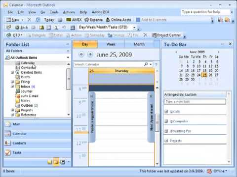 Getting things done outlook 2010 downloads