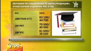 Стоимость обучения в ВУЗе
