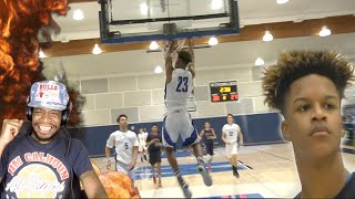 WTF!! SHAQ'S SON 6'9 SHAREEF O'NEAL DUNK FEST REACTION!! ONLY 16 YEARS OLD!!