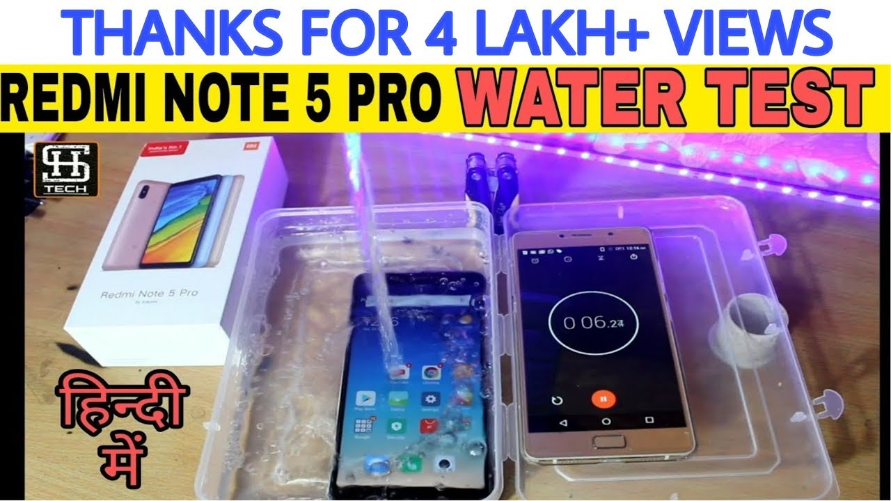 low priced 0afa8 3c35c REDMI NOTE 5 PRO:WATER TEST