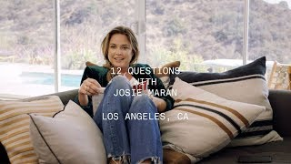 12 Questions With Josie Maran
