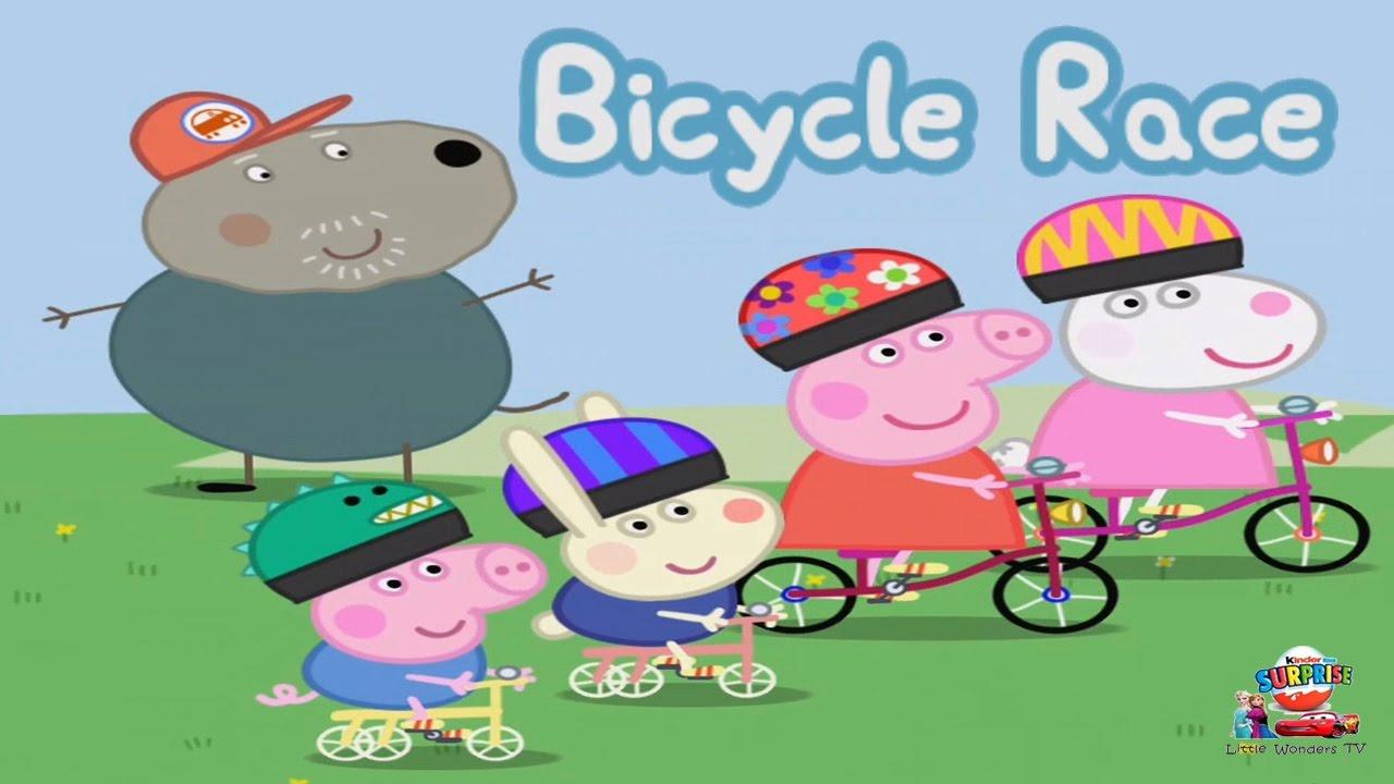Peppa Pig Bicycle Race Peppa Pig Riding A Bicycle Peppa