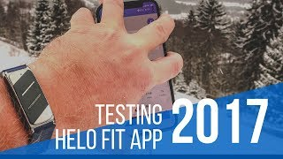 Helo LX Wristband  Testing Helo Fit App