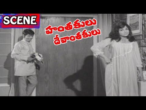 Bedroom Scene With Jyothi Lakshmi - Hanthakulu Devanthakulu Movie Scenes | Krishna | V9 Videos