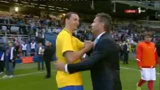 Zlatan Ibrahimovic i Sinisa Mihajlovic pricaju na bosanskom! 5/6/2012