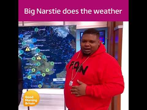 Big Narstie does the weather LIVE on Good Morning Britain (ITV)