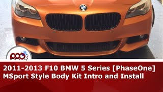 2011-2013 F10 BMW 5 Series MSport Style Body Kit Intro and Install(Introducing the new M-Sport style body kit for BMW F10 528i, 535i, or 550i models pre-LCI (2011-2013 year). In 2014, BMW introduced a facelift (LCI) to the F10 ..., 2014-03-12T06:15:04.000Z)