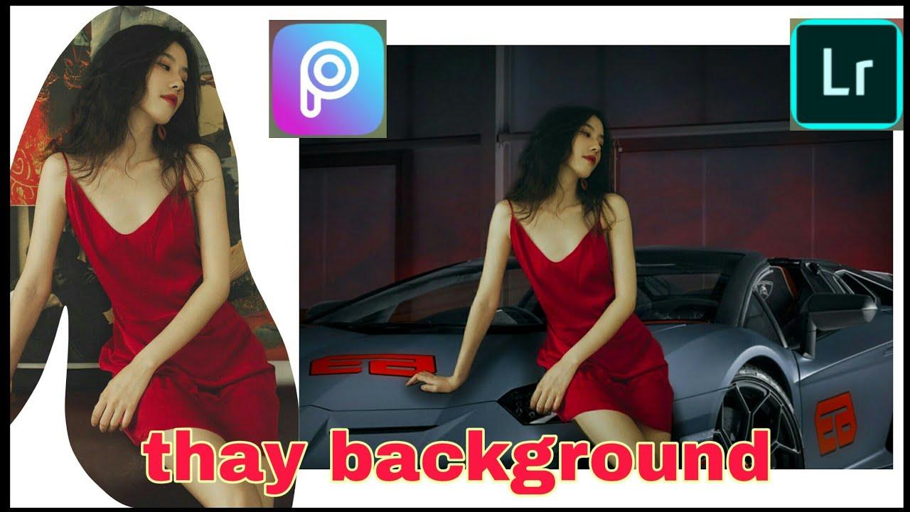 Picsart| Cách ghép ảnh, thay phông nền siêu xe bằng điện thoại, cách ghép người vào phông nền khác