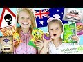 BRITISH KIDS TRY AUSTRALIAN CANDY!! 🍬🍭 ft. Sabre Norris & The Norris Nuts