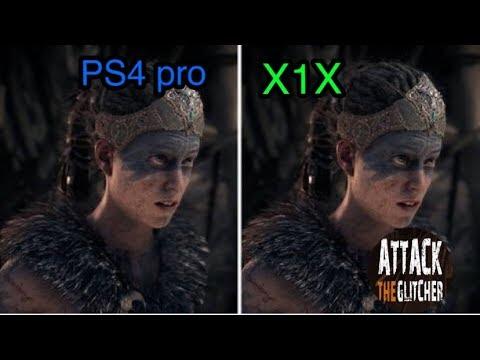 Hellblade- XBOX ONE X VS PLAYSTATION 4 PRO GRAPHICS COMPARISON