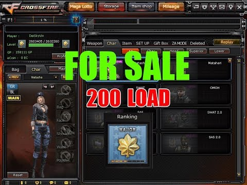 SELL Crossfire Acount Major Gold Ecoin Char Natasha 52 Lotto Spins Dual Colt Volcano NGA NGA!