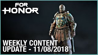 For Honor: Week 11/08/2018 | Weekly Content Update | Ubisoft [NA]