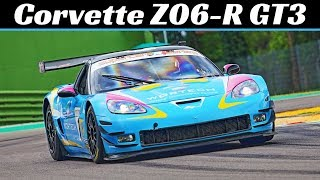 520Hp Corvette Z06-R GT3 C6 Racecar - Pure LS7 V8 N/A Engine Sound, Flybis & Action at Imola Circuit