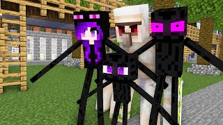 Monster School : STRONG BABY ENDERMAN FAMILY - Minecraft Animation