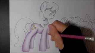 MLP speed drawing - Cheerilee & Cutie Mark Crusaders (Back to school)