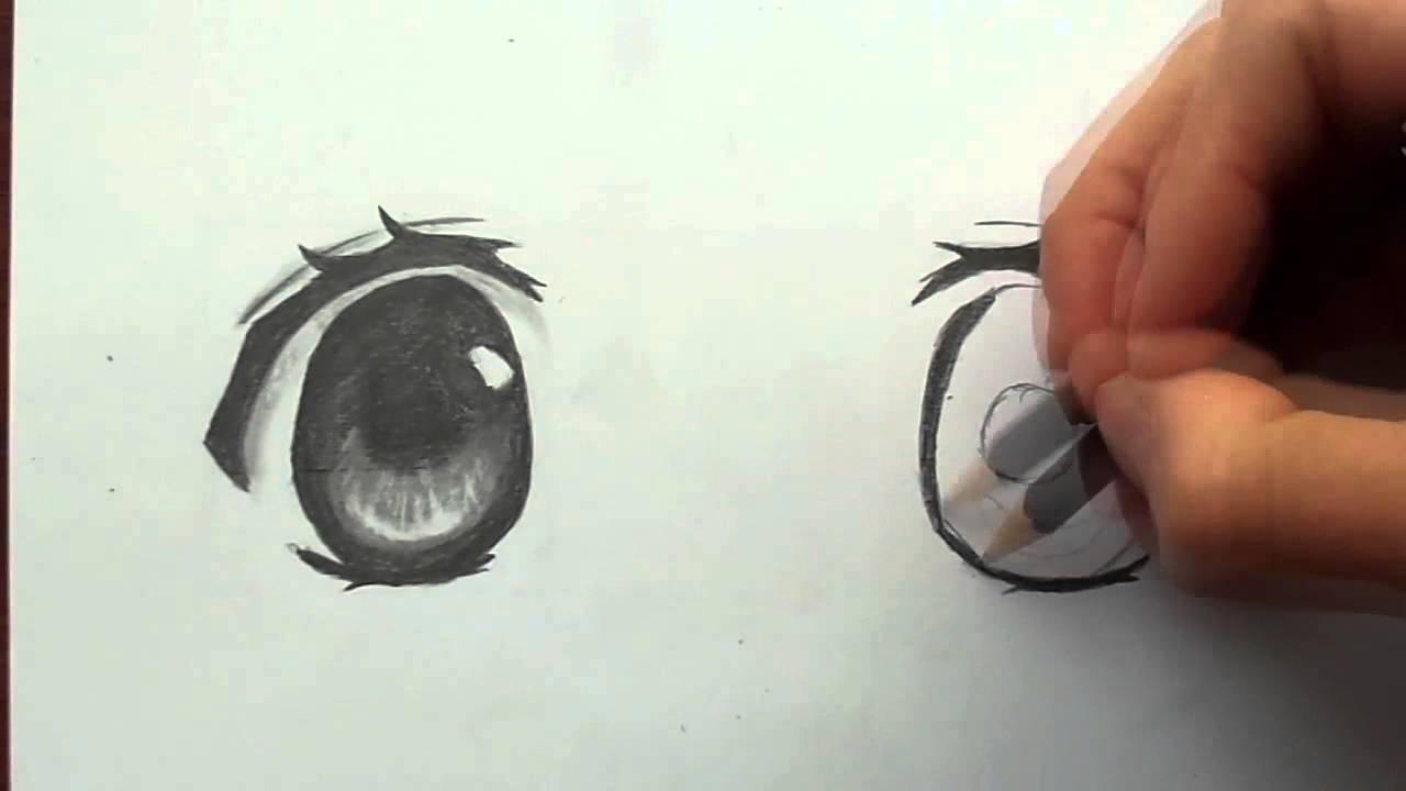 Cómo Dibujar A Lápiz Guía Máxima: Como Dibujar Ojos Manga A Lápiz