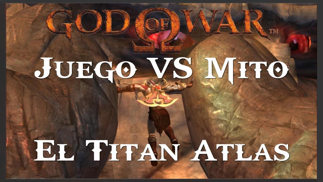 God of War || Juego VS Mito || El Titán Atlas