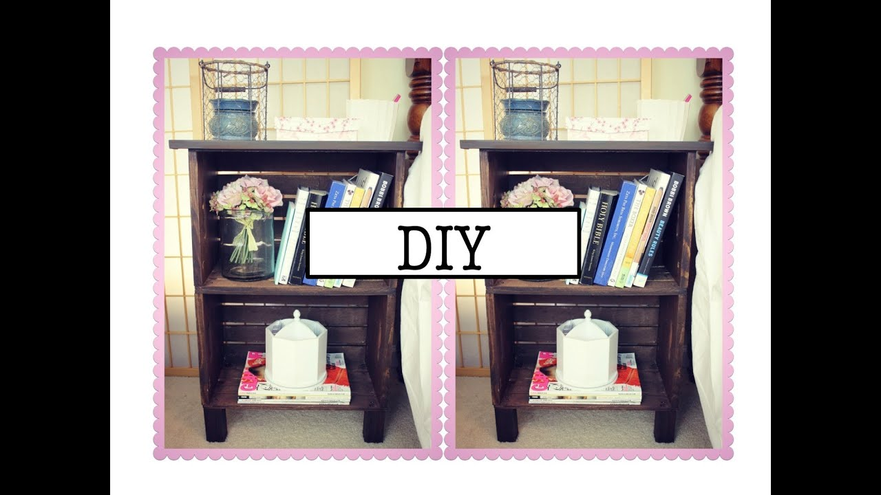 DIY Antique Inspired Nightstand Or Bookcase!   YouTube
