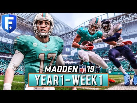 The Franchise Begins | Madden 19 Dolphins Franchise Year 1 - Week 1 vs Titans | Ep.2