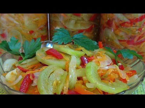 💥Без варки! Без стерилизации! Салат из зеленых помидоров на зиму / Ну очень вкусный салат 💘😍💝
