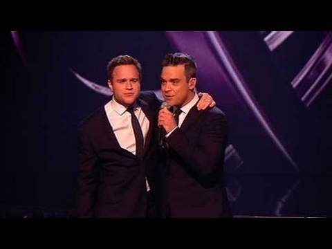 The X Factor 2009 - Olly & Robbie Williams: Angels - Live Show 10 (itv.com/xfactor)