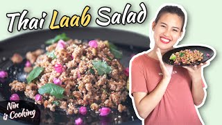 HEALTHY THAI FOOD - LARB MOO SALAD (ลาบหมู) - WITH NIN