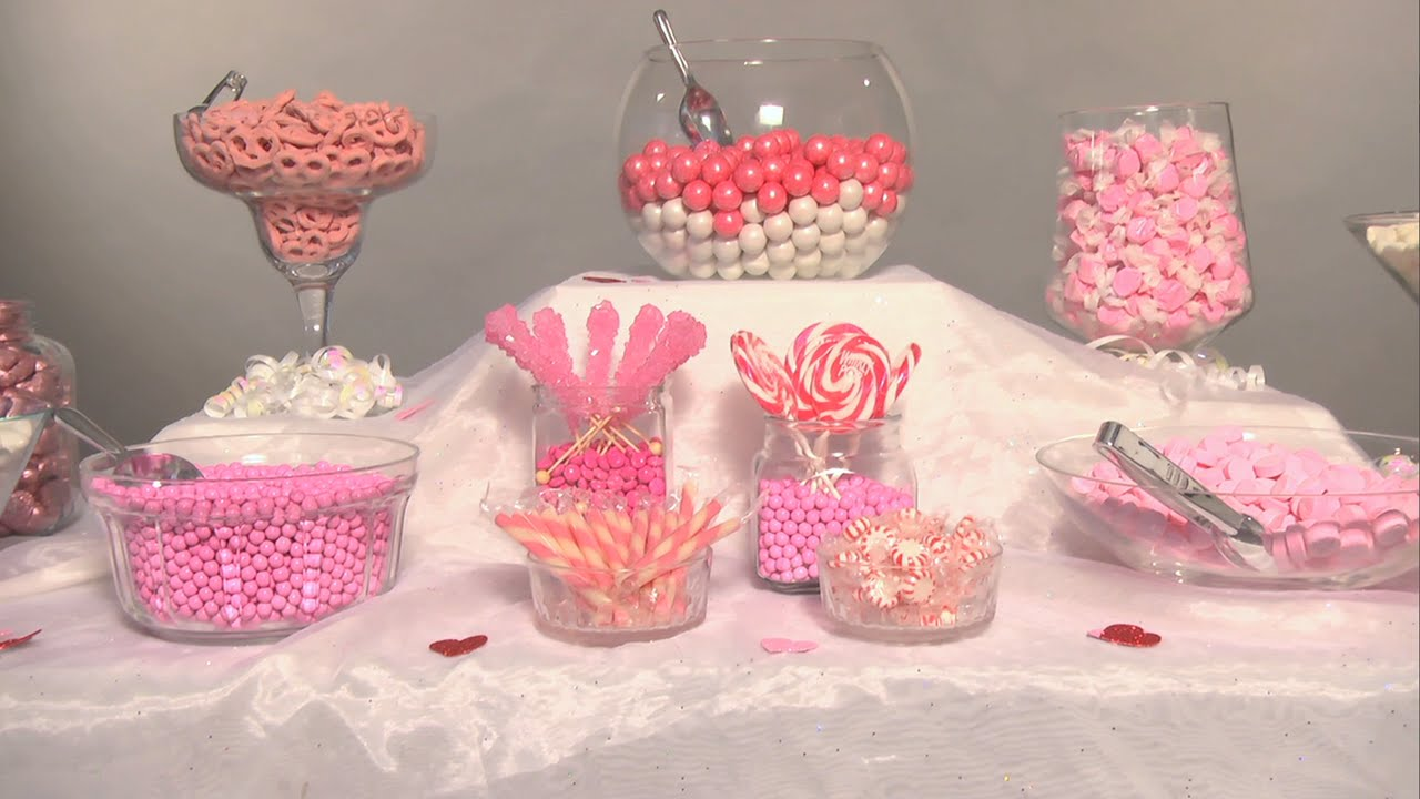 Create the Perfect Wedding Candy Buffet  Groovy Candies  YouTube